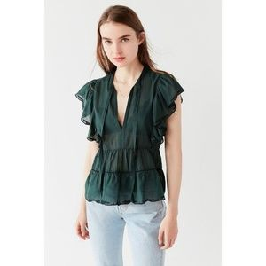 URBAN OUTFITTERS Gracie Eyelet Ruffle Blouse